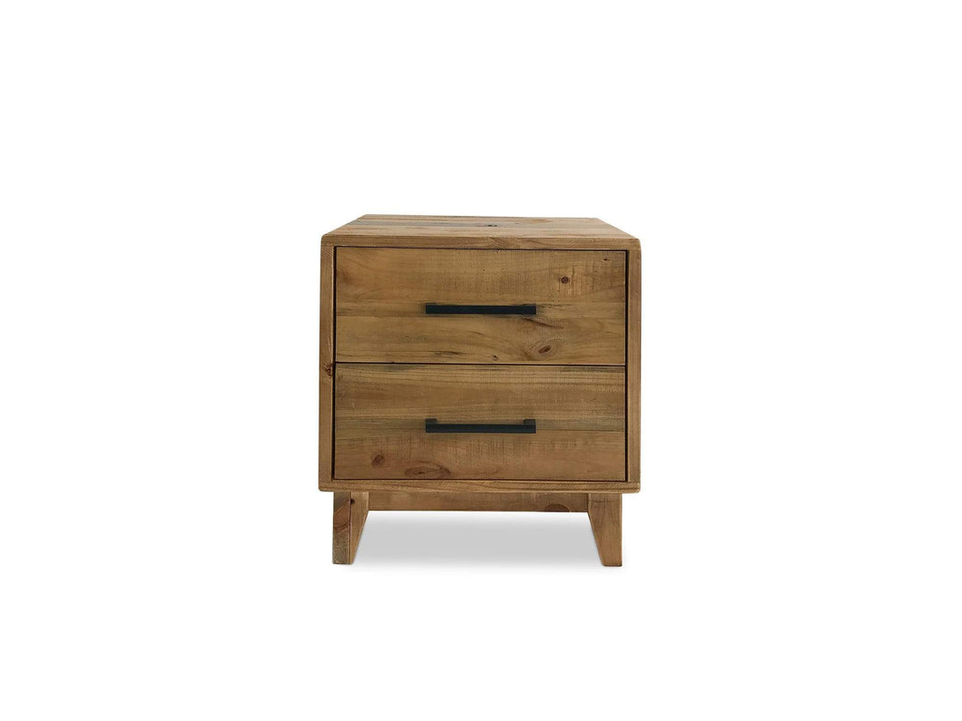 Bondi Bedside Table with Recycled Timber and Distressed Finish