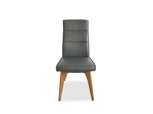 Carter Dining Chair with PU Finish and Solid Timber Base