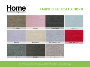 Fabric colour options for Double Sofa Bed