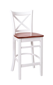 White oak barstool