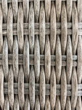 Close up of wicker on 4 Piece Outdoor Lounge