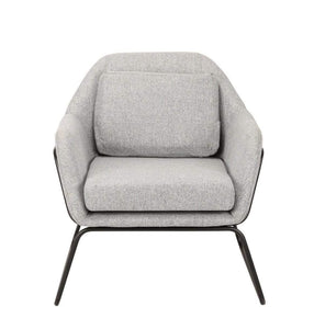 Delphina Accent Chair with Black Frame and Scatter Cushion