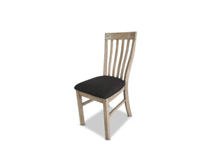 Driftwood Dining Chair with Recycled Timber and Fabric Seat Base