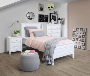 Lismore 3 Piece Kids Bed Package in White