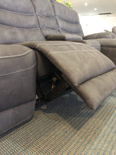 Manhattan Recliner Chaise with 2 Reclining Chairs and a Reclining Chaise in Rhino Suede