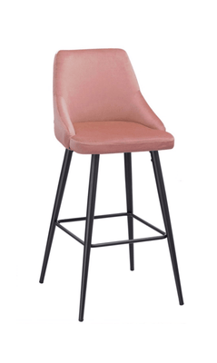 Misty Barstool with Solid Powder-Coated Black Frame
