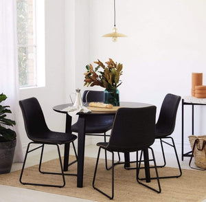 Riga Justine 5 piece Round Dining Suite with Bentwood Oak Leg Design