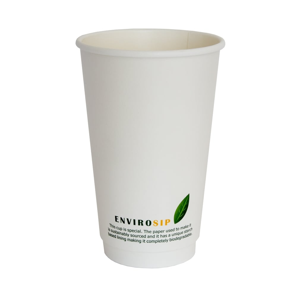 16oz Biodegradable Paper Cup - Double Wall| 500pcs