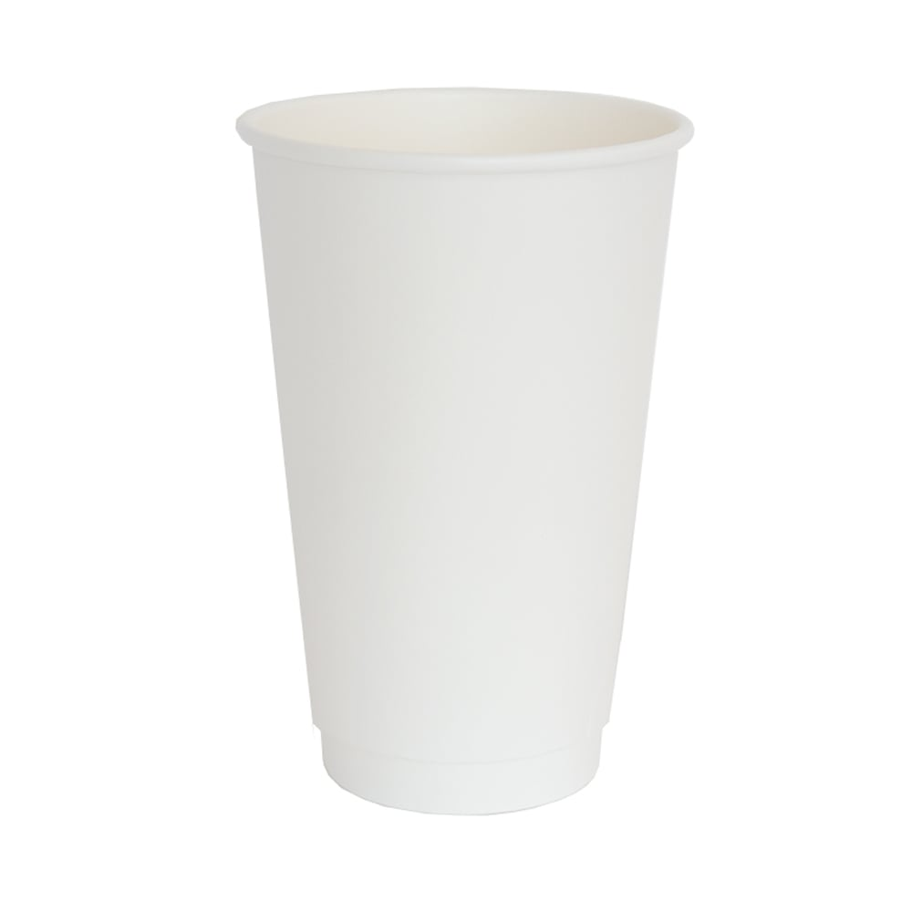 16oz White Double Wall Coffee Cup