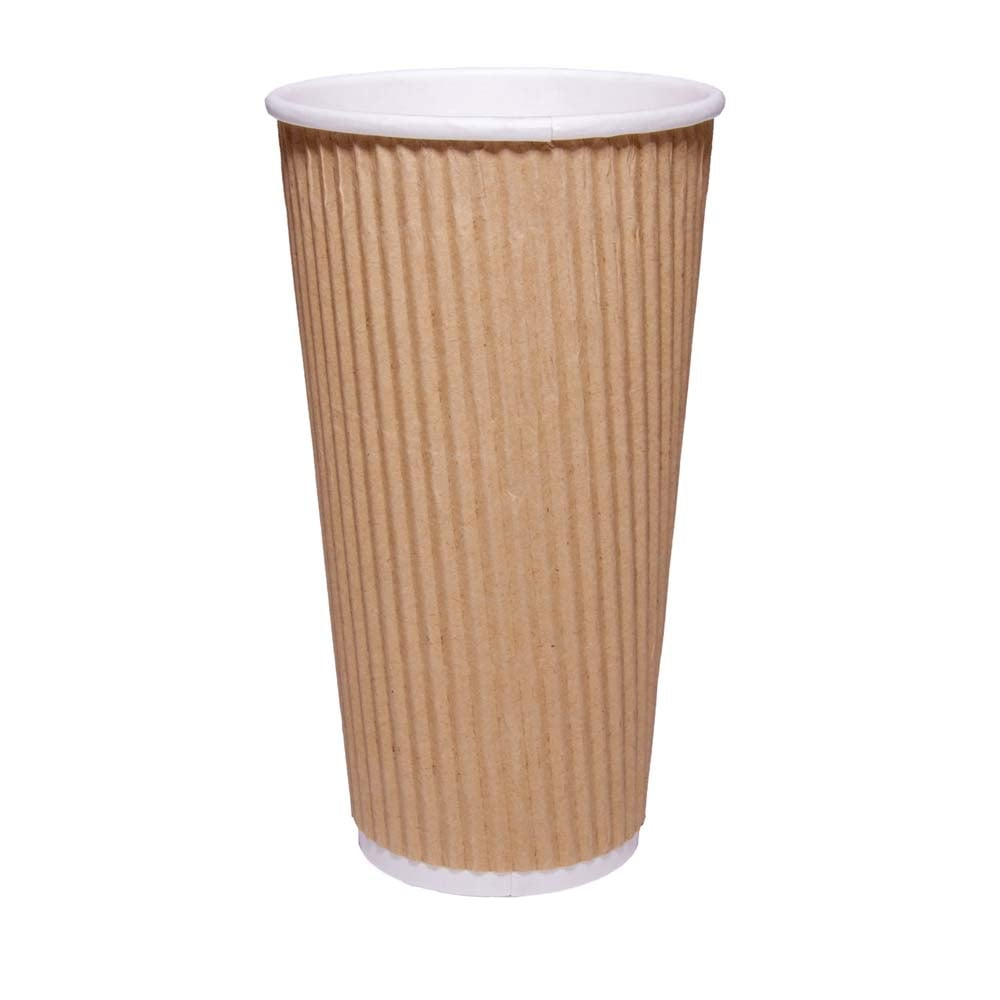 20oz Brown Ripple Coffee Cup| Case of 1000