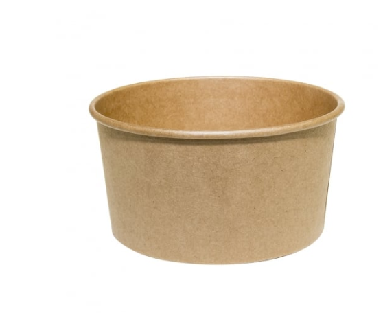 42oz Brown Paper Bowl - Wide Salad / Pasta Bowl (Case of 360)