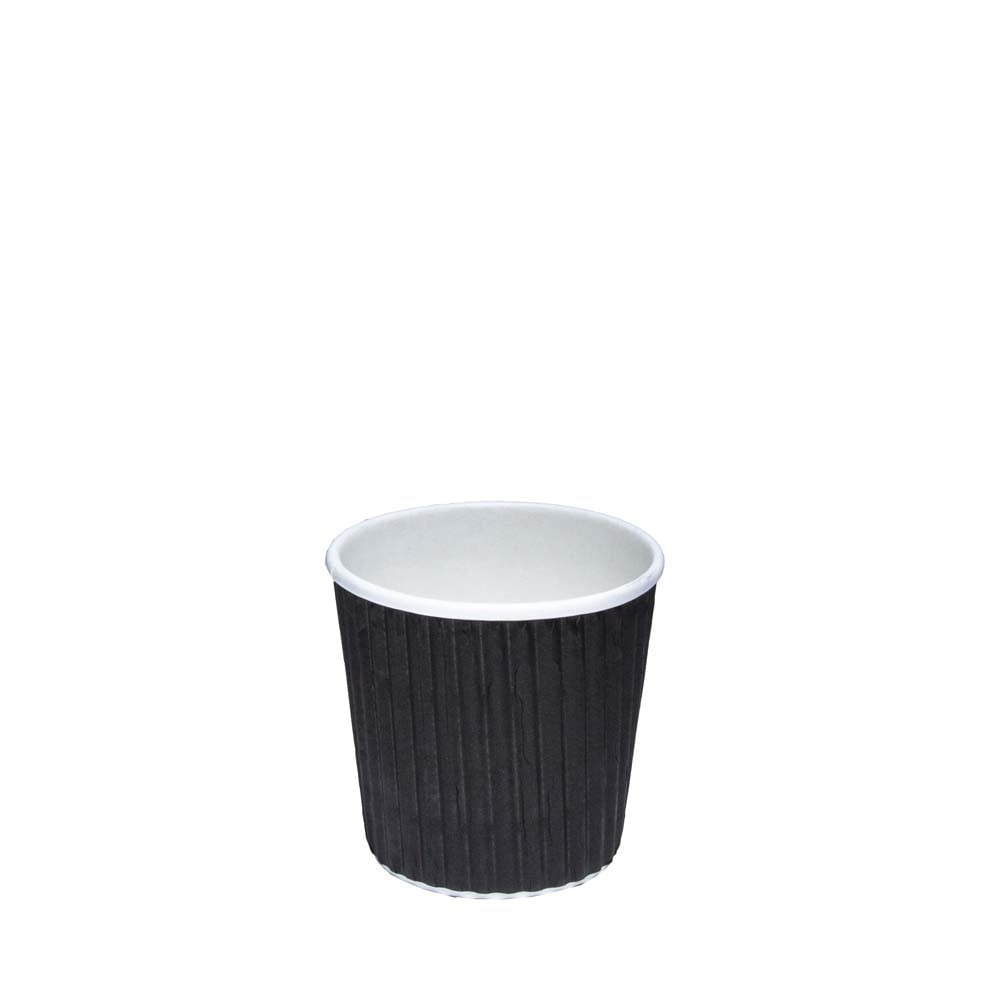 4oz Black Ripple Coffee Cup| Case of 1000