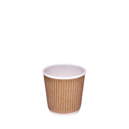 4oz Brown Ripple Coffee Cup| Case of 1000