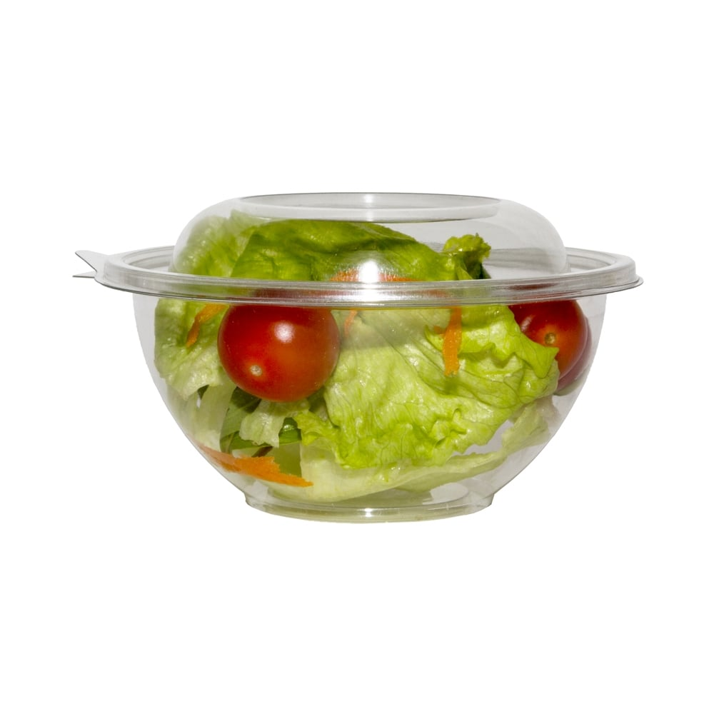 Set of 500 Disposable Salad Boxes Disposable Hinged Salad Container 16oz