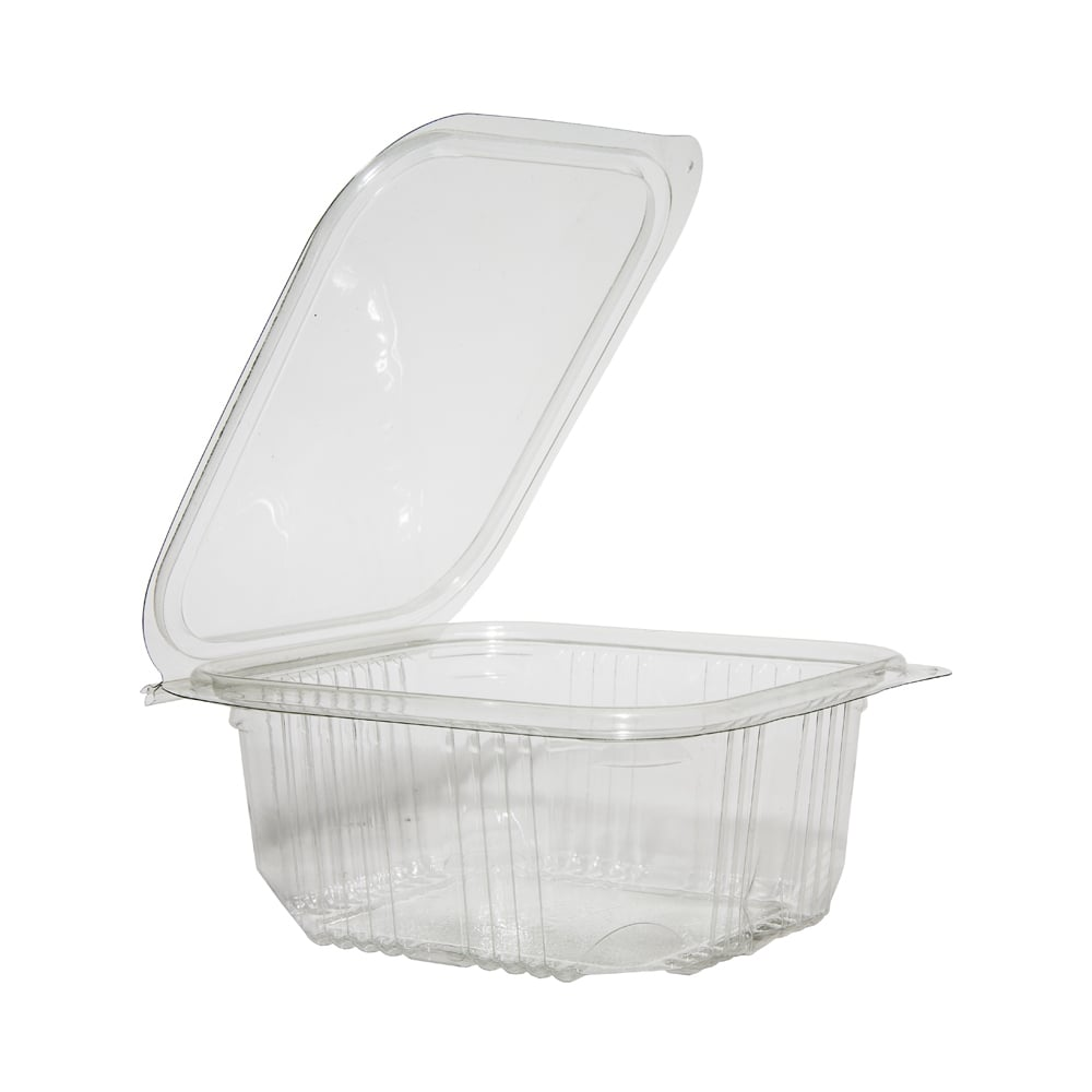disposable food containers plastic clear hinged lid rpet container 500mlx600 30066