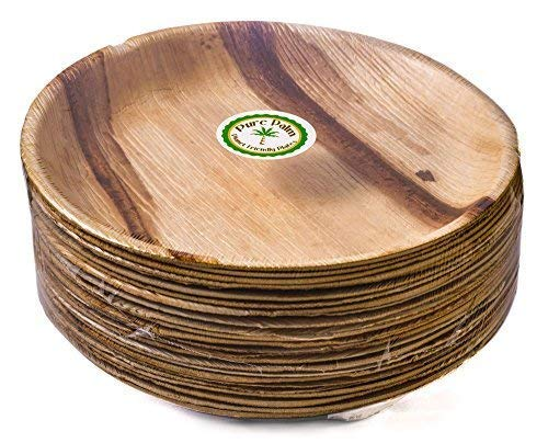 Palm Leaf Plate - 24cm Round  | Eco friendly and Biodegradable  Round Plate  10