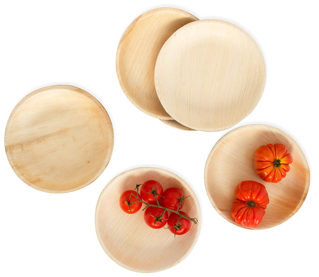 Palm Leaf Plate - 18cm Round  | Eco friendly and Biodegradable  Round Plate  7