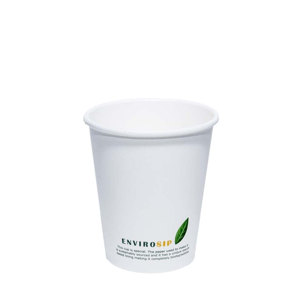 8oz Biodegradable Paper Coffee Cup | Case of 1000