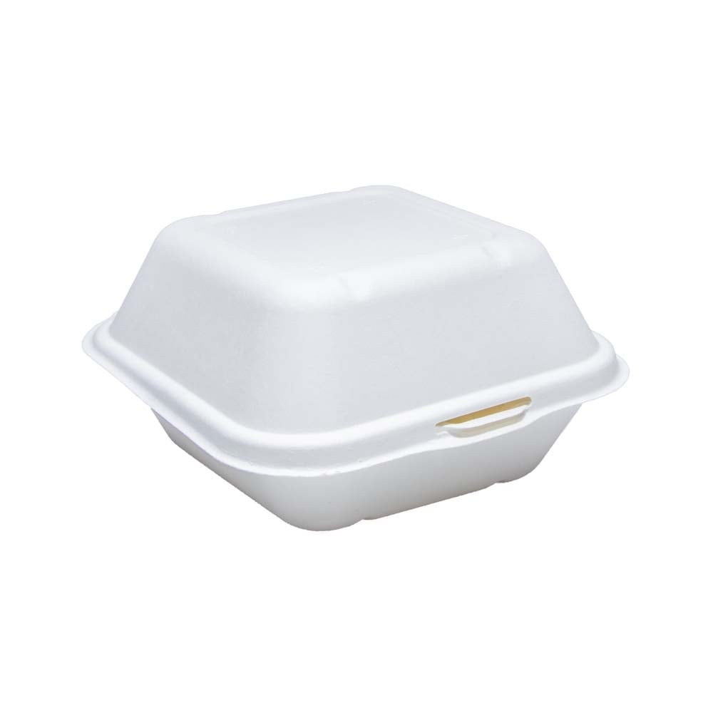 Sugarcane Bagasse Burger Box | Large Sugarcane Bagasse Burger Box | Large Sugarcane Bagasse Burger Box  450ml| Large Sugarcane Bagasse Burger Box | Large (Case of 500)