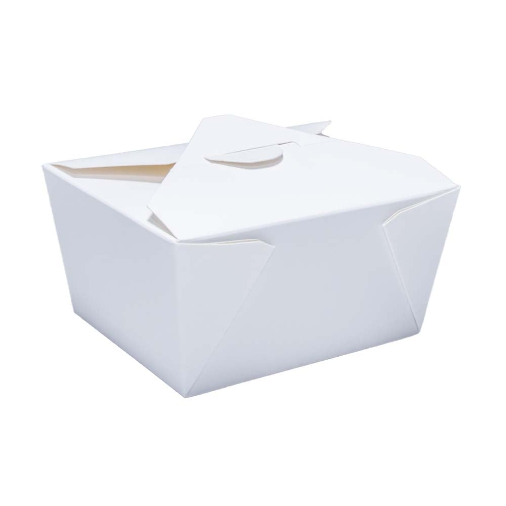 White Paper Food Box|Hot Food Boxes for Catering| Cardboard Takeaway Food  Box | No 1| For Hot Fast Foods (Case x 500)