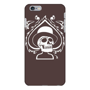 totenkopf zylinder skull pik poker ace topper bike mc rock metal iPhone 6/6s Plus Case