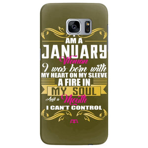 i am a january women Samsung Galaxy S7 Edge