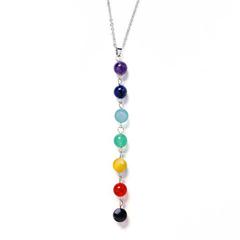 Colorful Chakra Bead Necklace