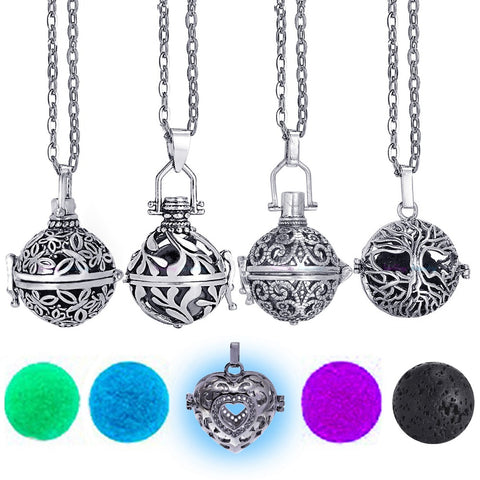 Round Locket Diffuser Necklace