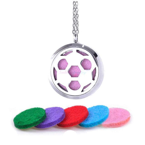 Soccer Diffuser Necklace