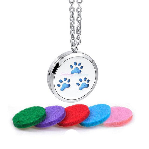Dog Paw Print Diffuser Necklace