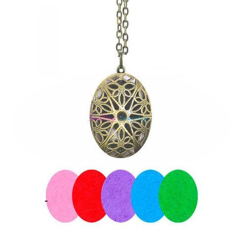 Oval Diffuser Necklace