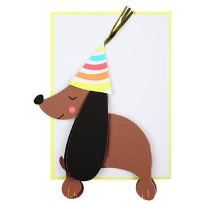 Honeycomb Sausage dog card