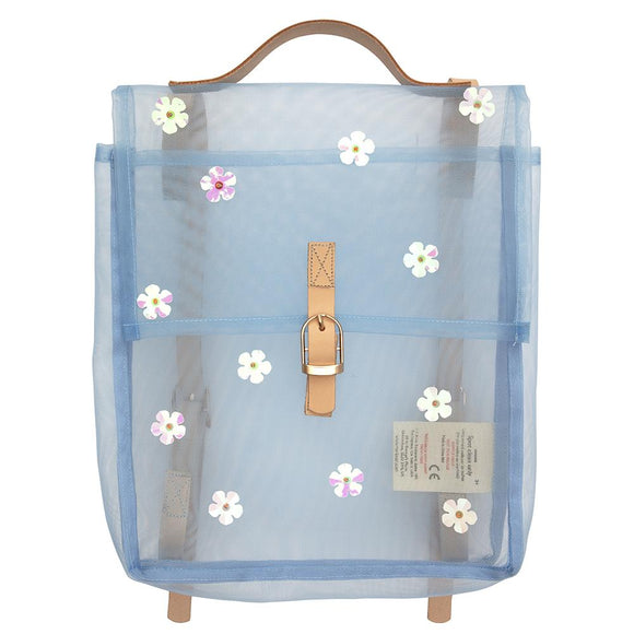 Sequin Flower mesh backpack