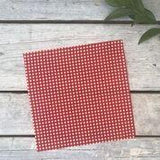 Bees Waxed Food Wrap(red checked)