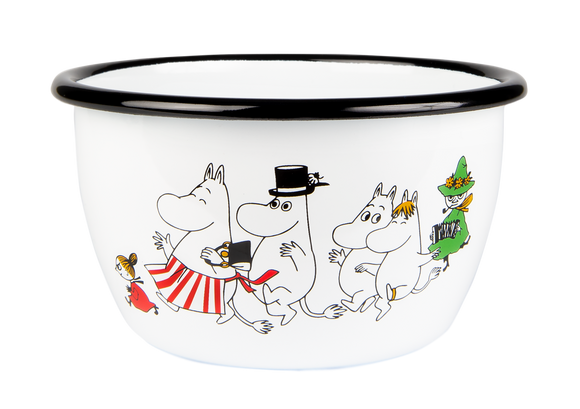 Enamel Bowl 6dl (Moominvalley)