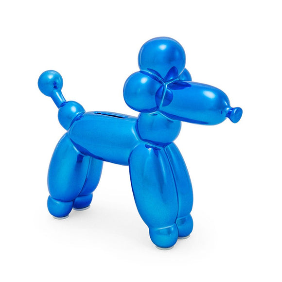 Balloon Money Bank French Poodle - Blue