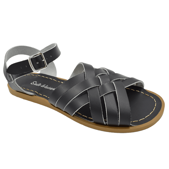 Saltwater Retro sandal (Black, Adult)