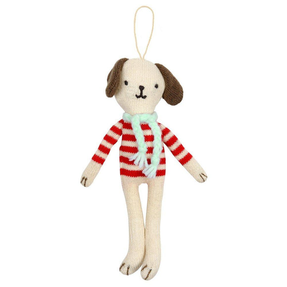 Stripy Dog Tree Decoration