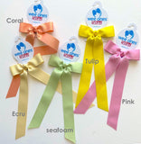 Long tail bow Hair clip(grosgrain)