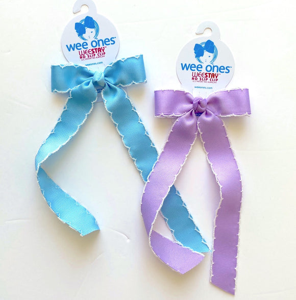 Long tail bow Hair clip(Moonstitch)