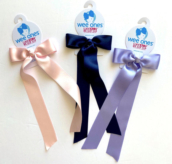 Long tail bow Hair clip(satin)