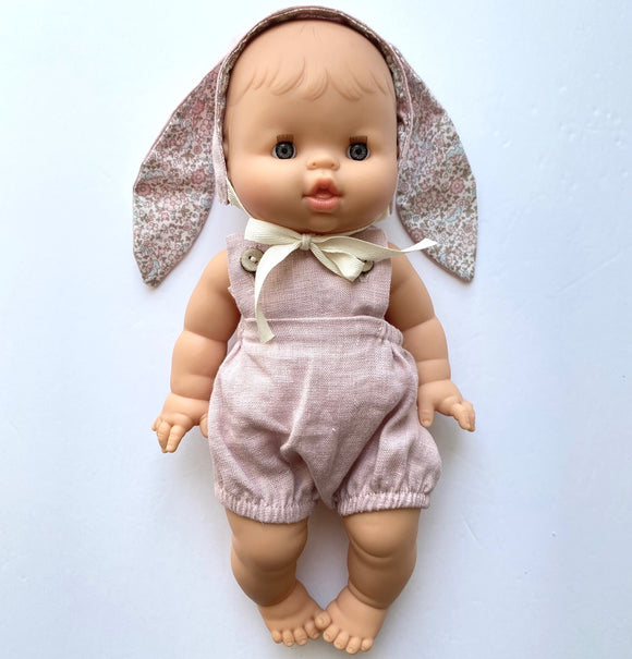 Linen bunny set for dolls