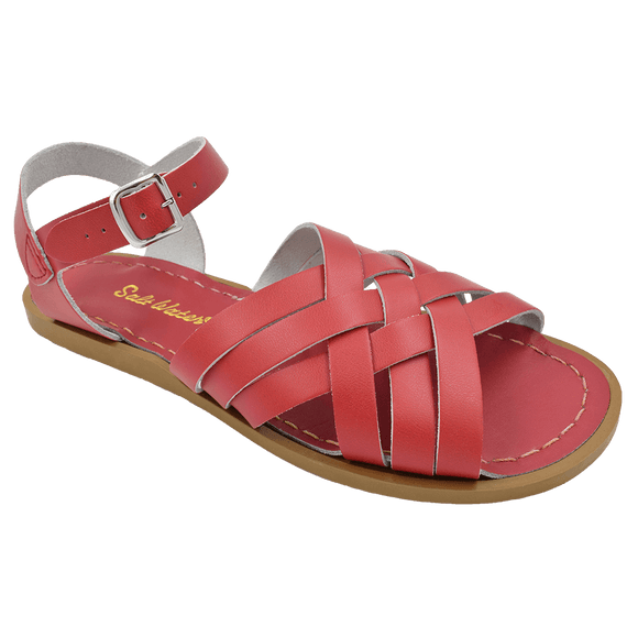Saltwater Retro sandal (Red, Adult)