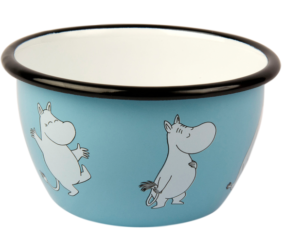 Retro Enamel Bowl 6.dl (light blue)