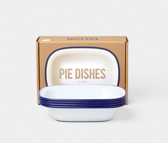 Pie Dishes set (box of 4) Blue rim
