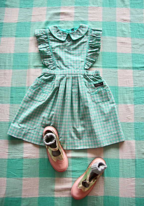 Reina Dress(mint check)