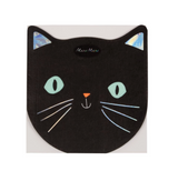 Black cat Halloween napkins
