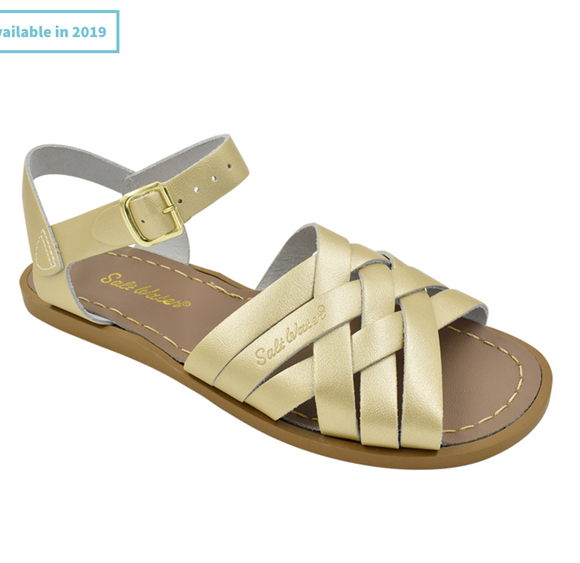 Saltwater Retro sandal ( Gold, Adult)