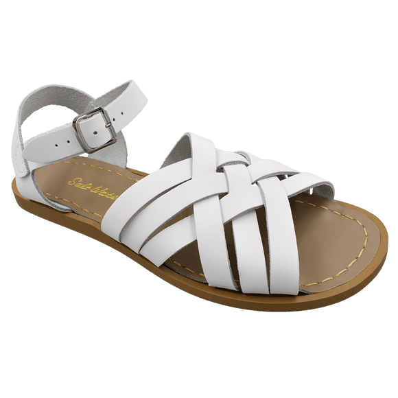 Saltwater Retro sandal (White, Adult)