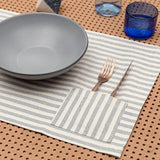 Placemats with pocket stripe(set of 4)